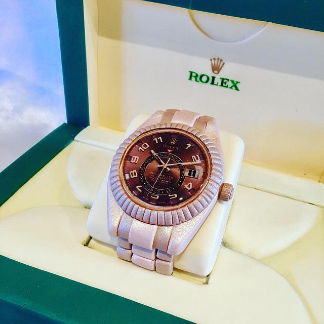 Rolex in a box cake