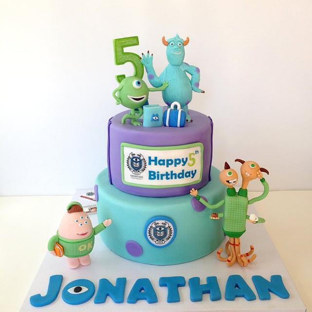 Superb Monster University Cake By Funni Cakesdecor Personalised Birthday Cards Epsylily Jamesorg