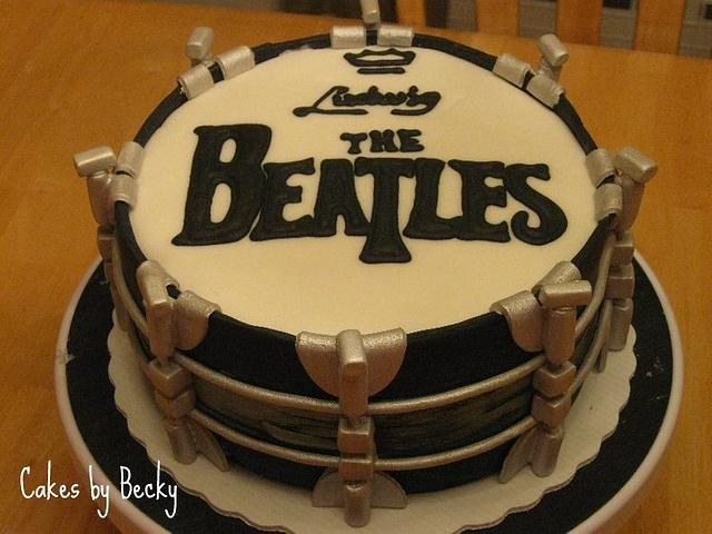 Beatles Drum Cake