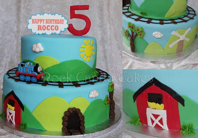 Admirable Thomas Birthday Cake Cake By Rock Candy Cakes Cakesdecor Personalised Birthday Cards Sponlily Jamesorg
