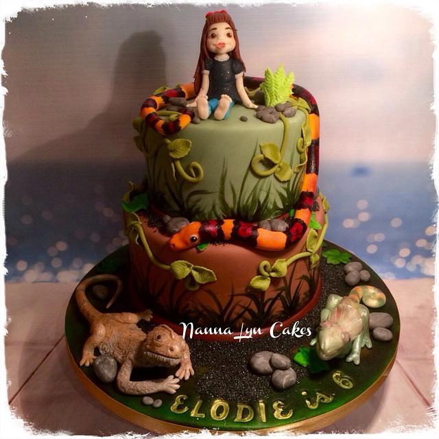 Amazing Reptile Party Birthday Cake Cake By Nanna Lyn Cakes Cakesdecor Personalised Birthday Cards Xaembasilily Jamesorg