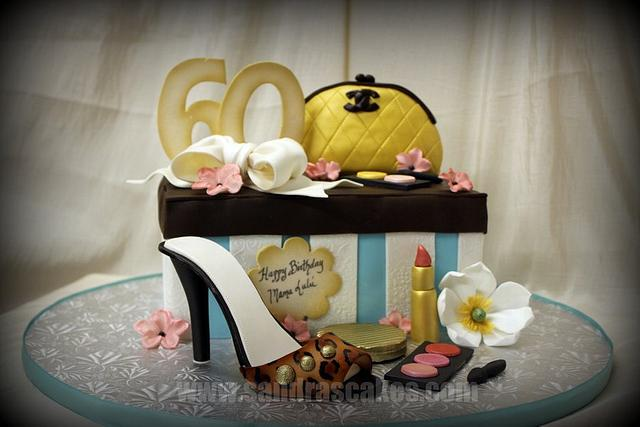 Couture Shoe Box Cake