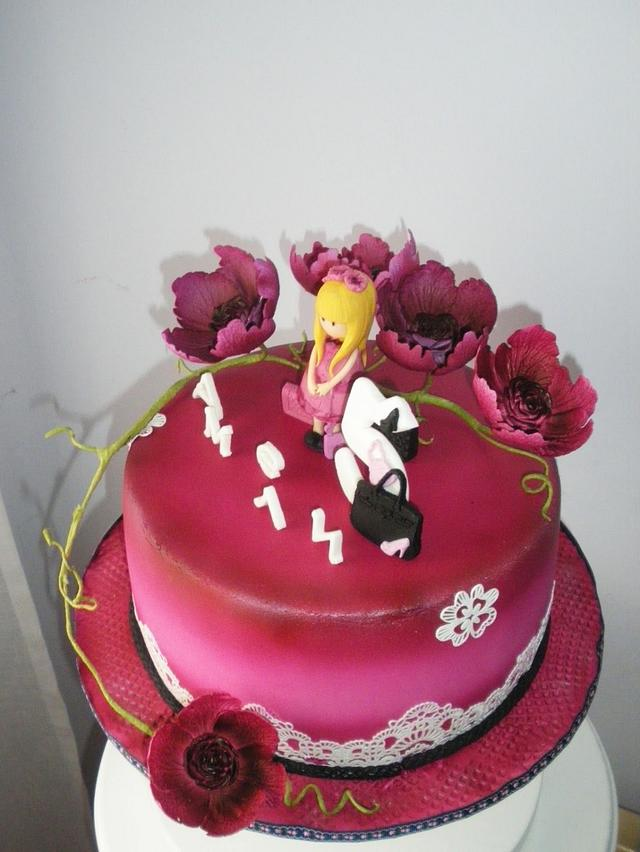 Cake inspired by the birthday dress