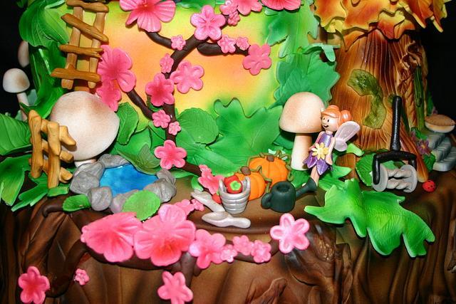 Fairy Wonderland Wedding Cake