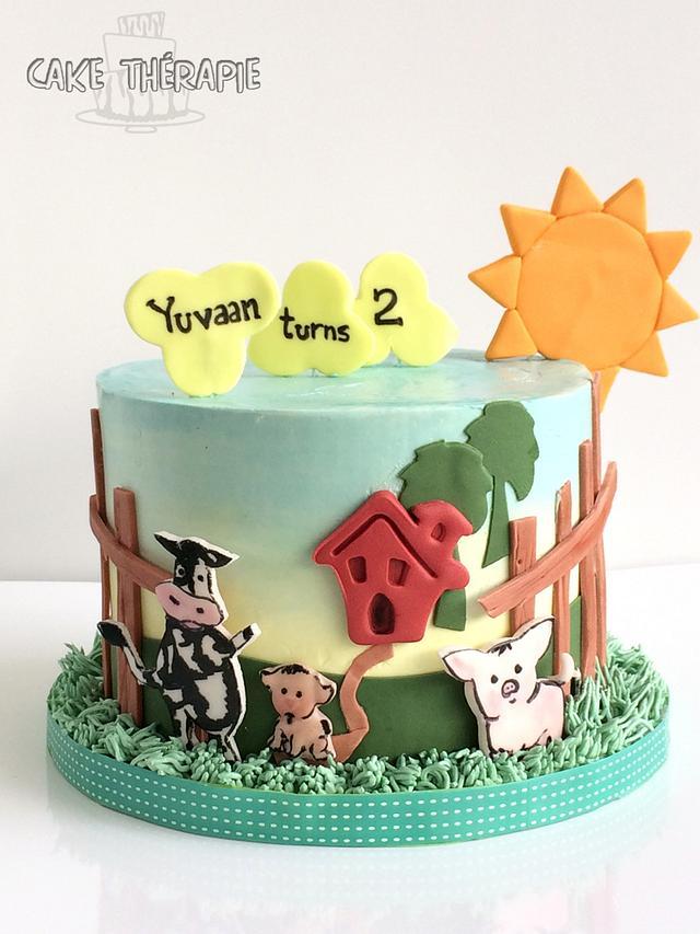 Cute Farm themed cake