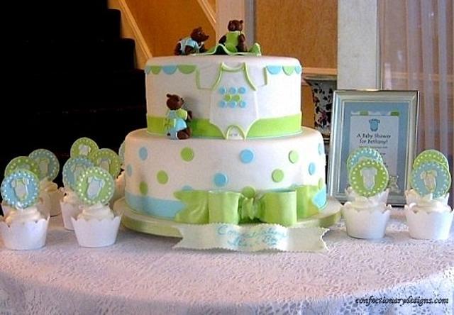 Three Little Bears Baby Shower Cake