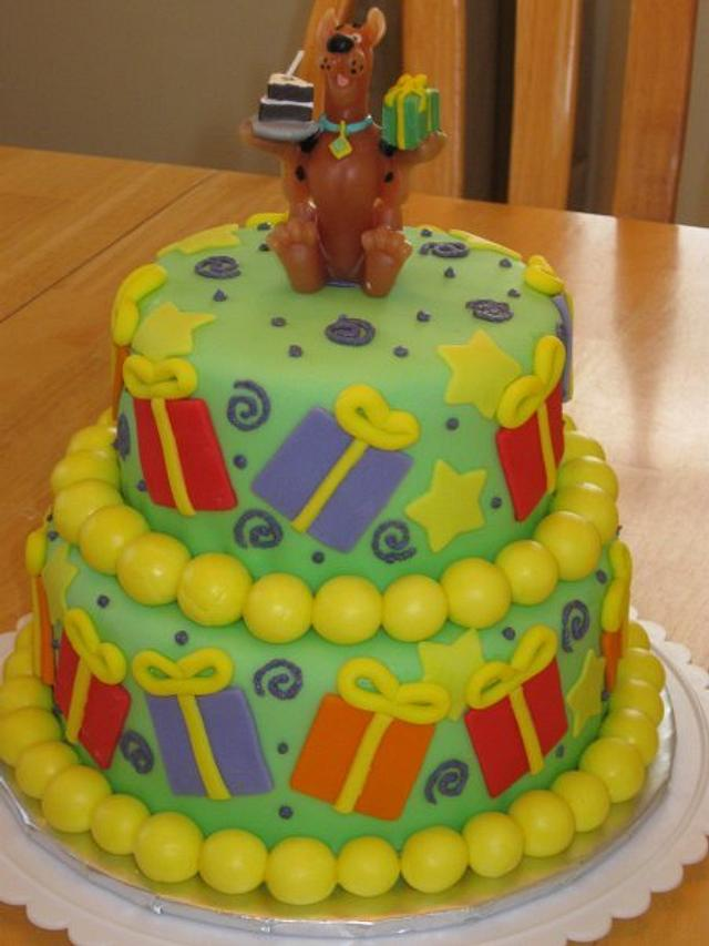 Scooby Doo First Birthday with Matching Smash Cake