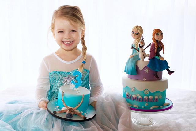 Frozen cake for my daughter :)