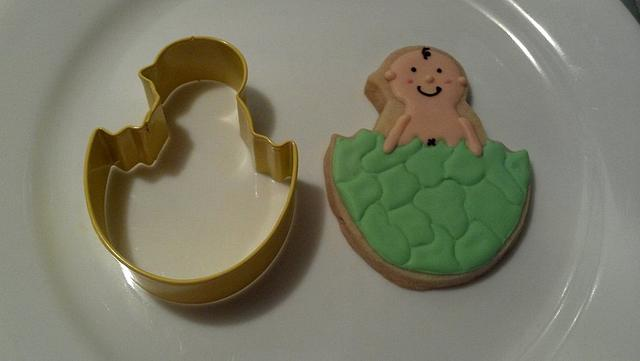 Babyboy shower cookies.