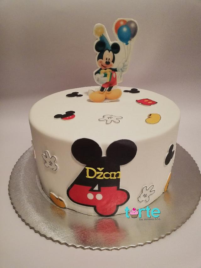 Groovy Mickey Mouse Birthday Cake Cake By Torte By Amina Eco Cakesdecor Funny Birthday Cards Online Hendilapandamsfinfo