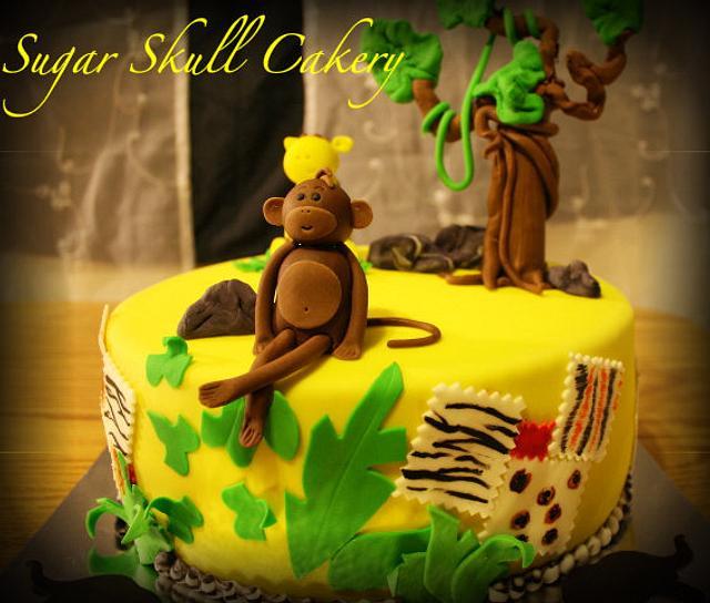 Safari Themed Baby Shower Cake III