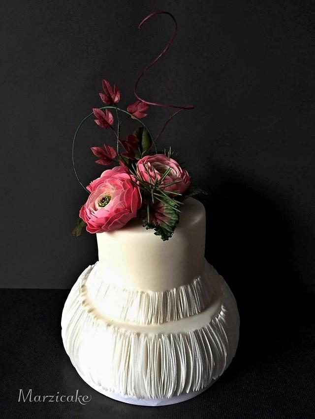 Walnut cake with edible paper
