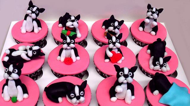 Boston Terrier Cupcakes