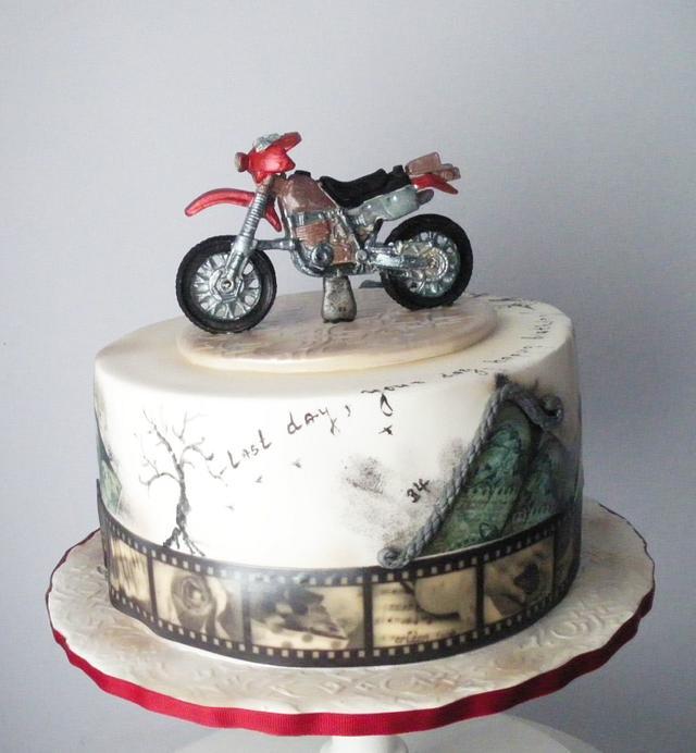 Super Cross Motorbike Birthday Cake Cake By Rositsa Cakesdecor Personalised Birthday Cards Epsylily Jamesorg