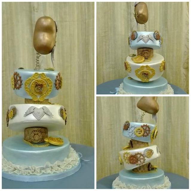 My steampunk anniversary cake