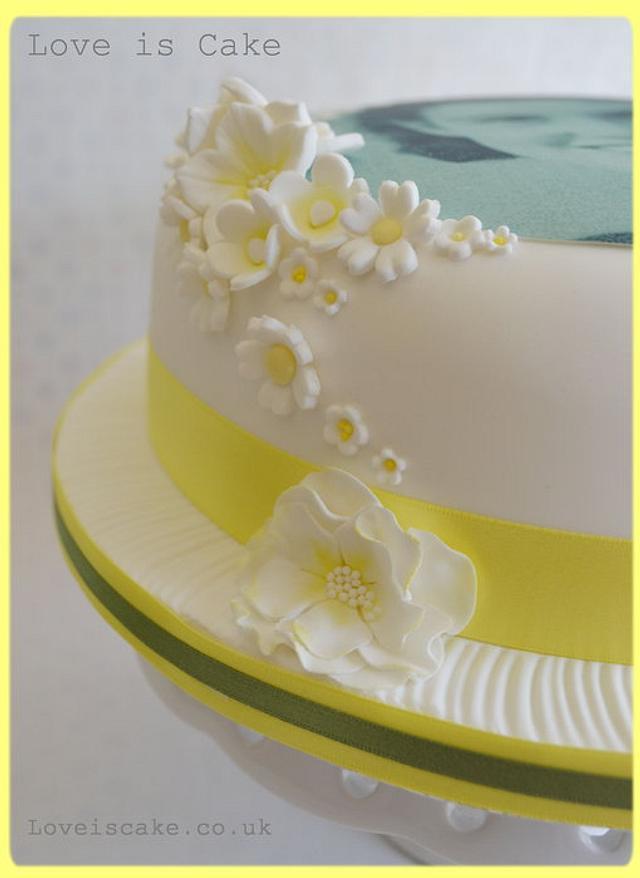 90th Birthday cake