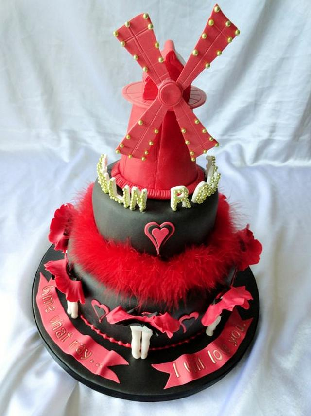 Moulin Rouge Cake