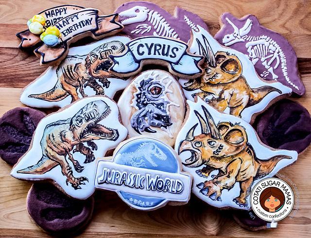 Jurassic World Sugar Cookies