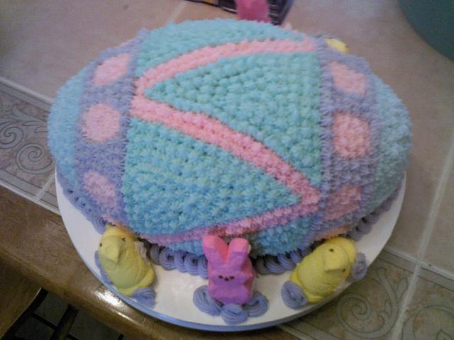 first cake ever with no fondant!