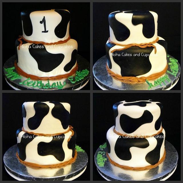 Cow print birthday