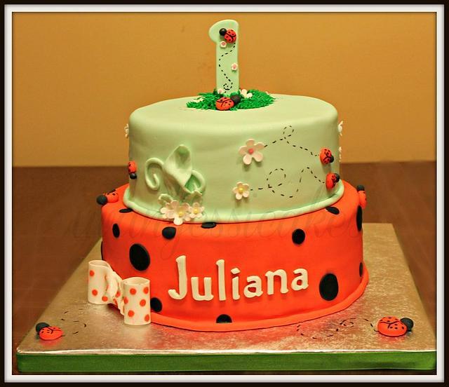 Outstanding Ladybug 1St Birthday Cake Smash Cake Cake By Jessica Cakesdecor Birthday Cards Printable Giouspongecafe Filternl