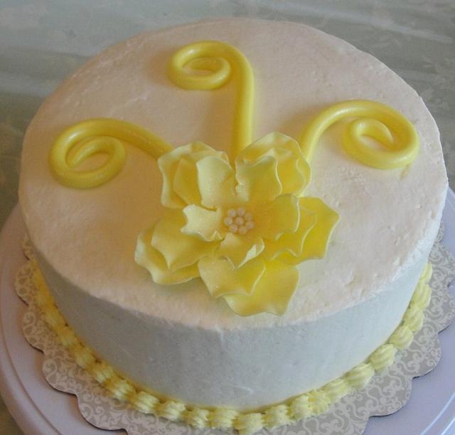 Whimsical Rose Cake