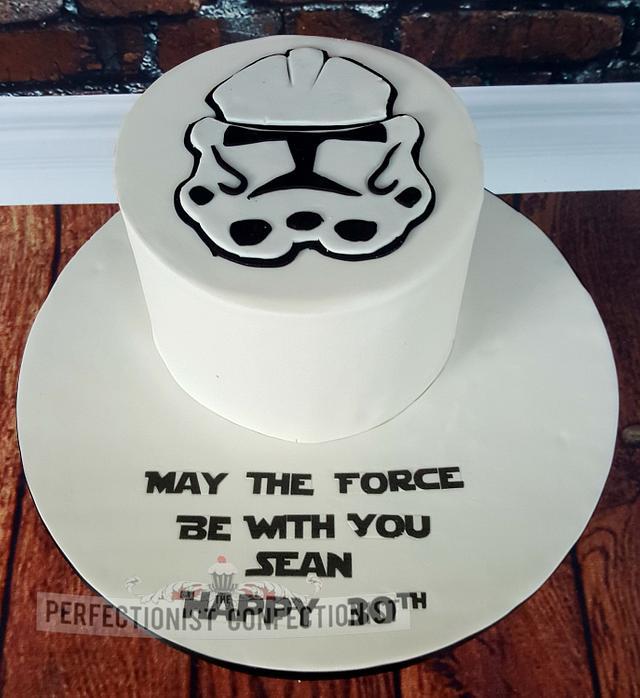 Magnificent Sean Stormtrooper 30Th Birthday Cake Cake By Niamh Cakesdecor Personalised Birthday Cards Vishlily Jamesorg