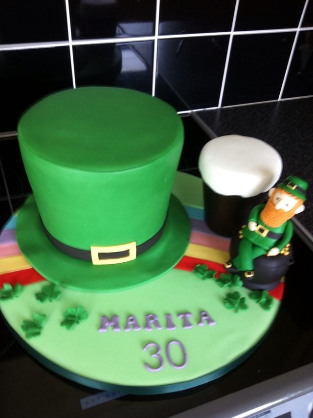 Amazing Irish Themed Birthday Cake Cake By Berns Cakes Cakesdecor Personalised Birthday Cards Veneteletsinfo