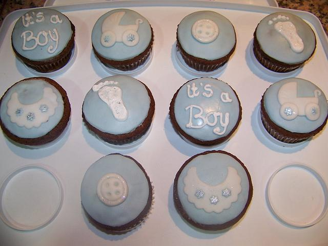 Babyshower Boy Cupcakes
