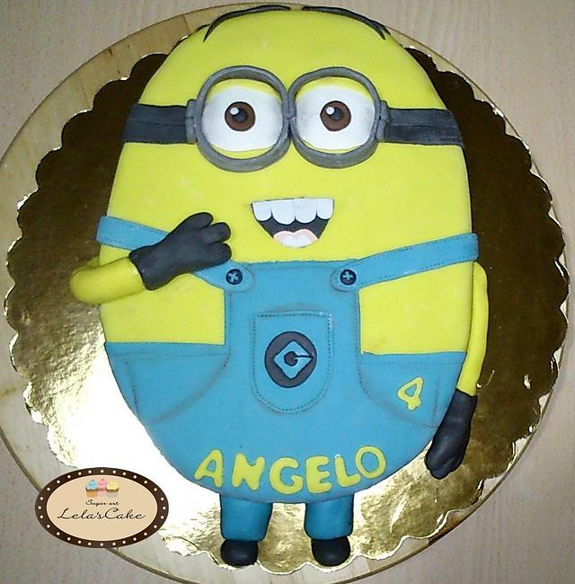 Minion cake for my baby boy