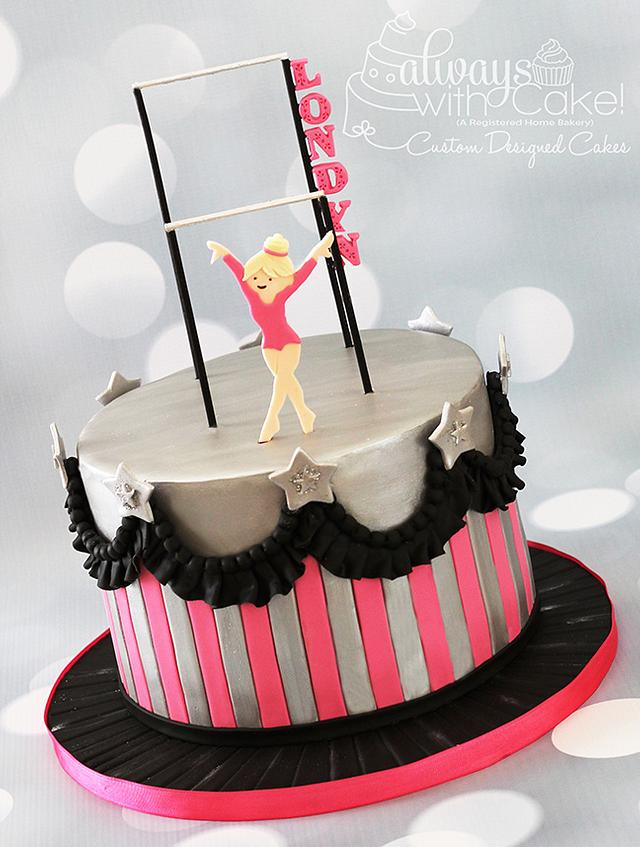 Sensational Gymnastics Birthday Cake Cake By Alwayswithcake Cakesdecor Personalised Birthday Cards Bromeletsinfo