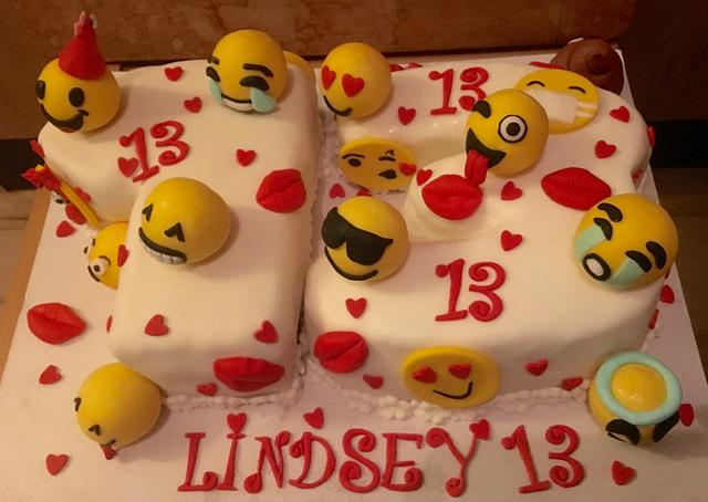 3D Emoji cake