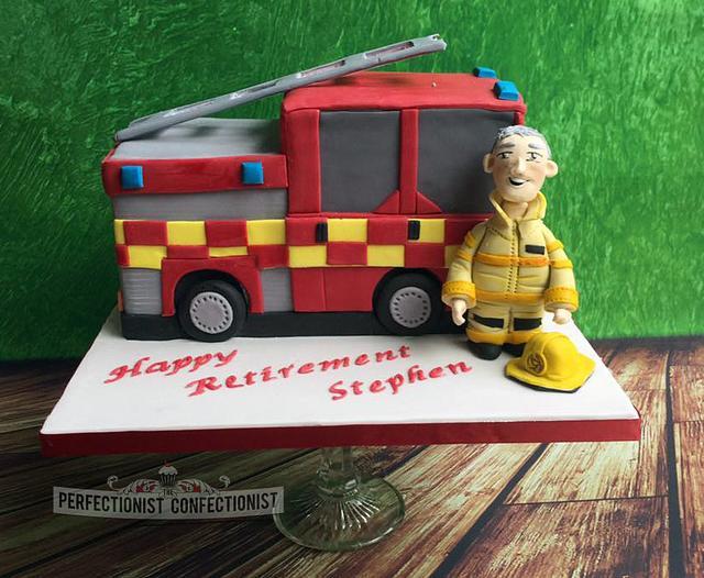Stephen - Fire Engine Retirement Cake