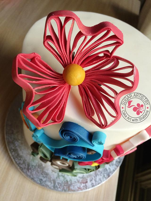 Quilled Cake Decor