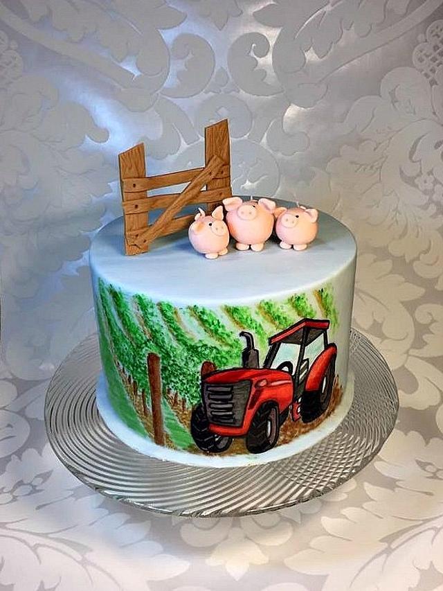 Tractor in vineyard - for boy