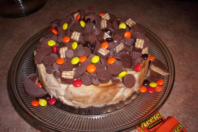 Reese's Pieces Gone Crazy Cheesecake