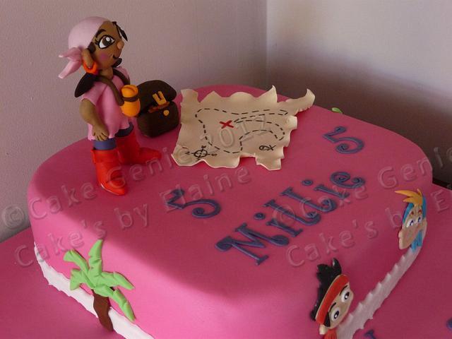 Izzy from Jake and the Neverland Pirates Birthday Cake
