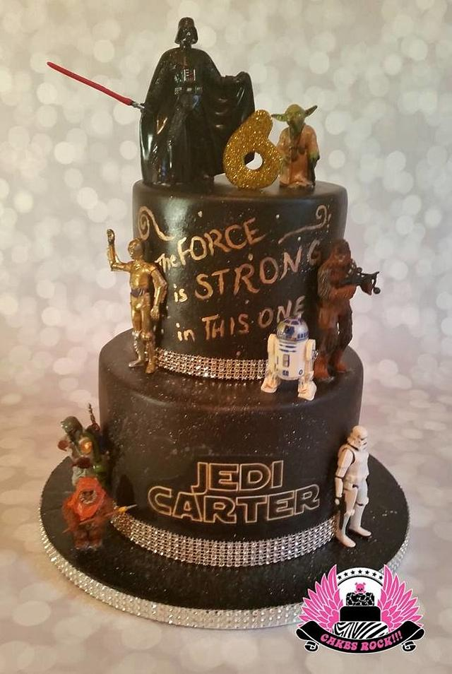 Fabulous Star Wars Birthday Cake Cake By Cakes Rock Cakesdecor Birthday Cards Printable Riciscafe Filternl