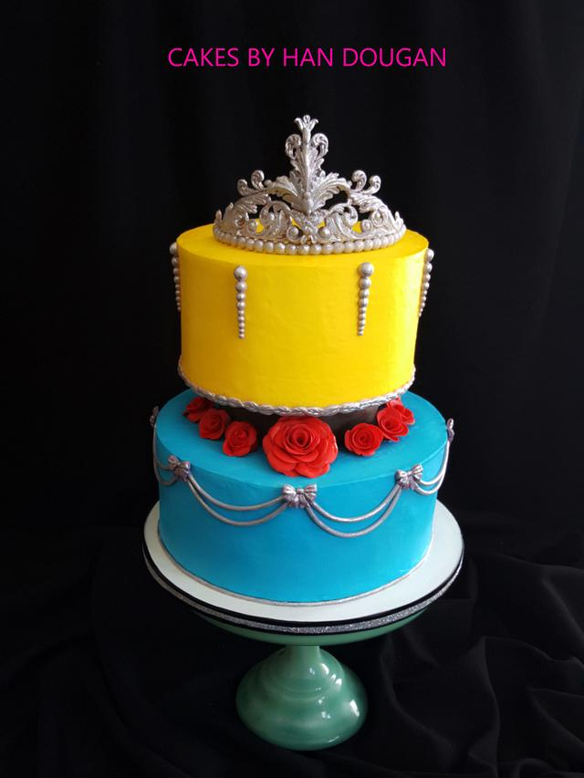 Excellent 3D Crown For Beauty And The Beast Them Birthday Cake Cakesdecor Personalised Birthday Cards Cominlily Jamesorg