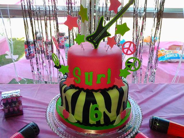 80's rock star birthday cake