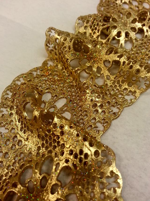 Edible silk and lace