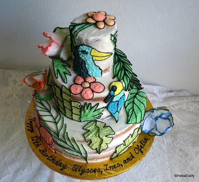 'Icing Smiles' cake for Ulysses' 12th birthday.
