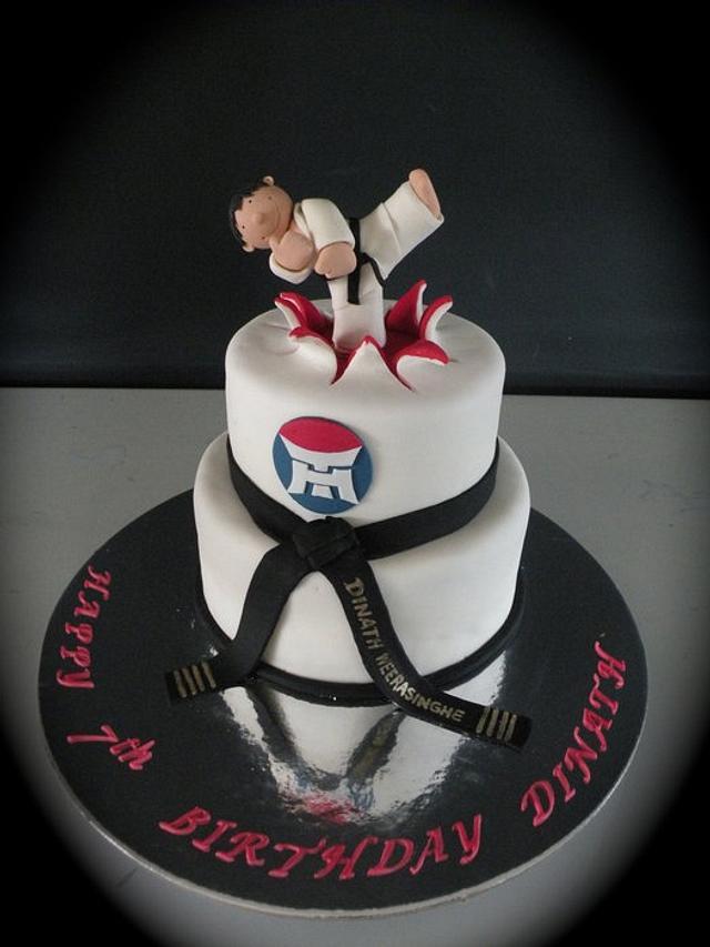 Taekwondo themed cake