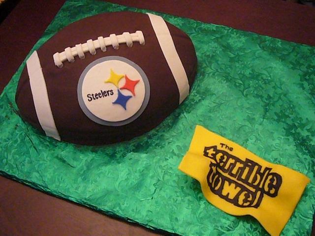 Steelers football cake