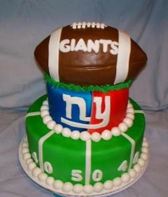 Outstanding Ny Giants Cake Cake By Angel Rushing Cakesdecor Funny Birthday Cards Online Inifodamsfinfo