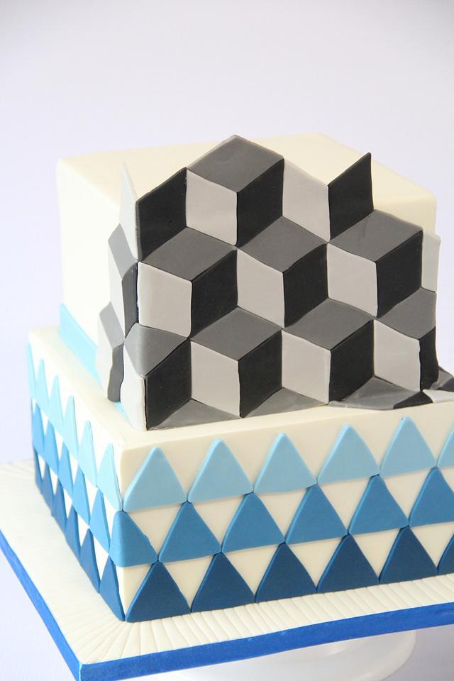 3D effect cake