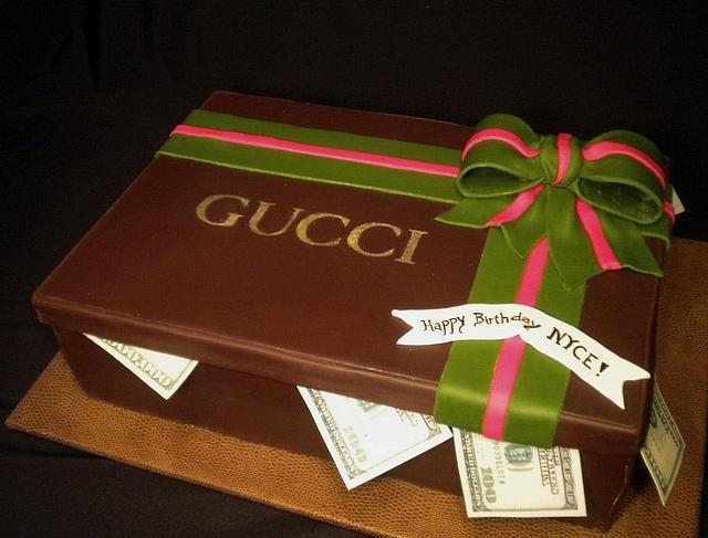 Gucci Gift Box Cake with Ciroc Vodka