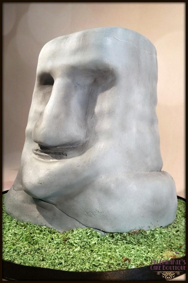 Easter Island Head cake