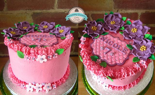 really pink cake