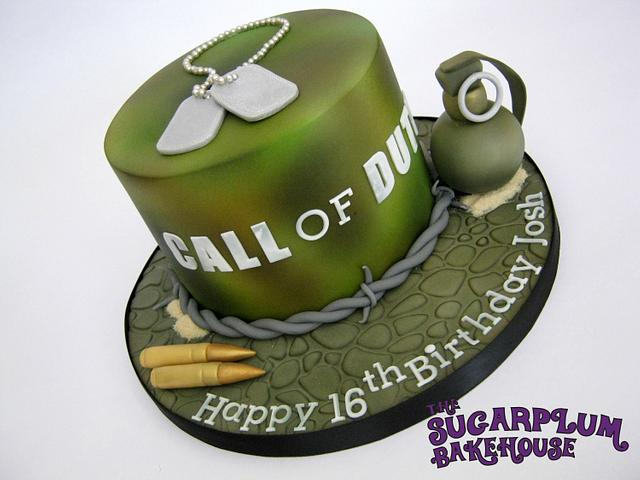 Super Call Of Duty 16Th Birthday Cake Cake By Sam Harrison Cakesdecor Funny Birthday Cards Online Inifodamsfinfo